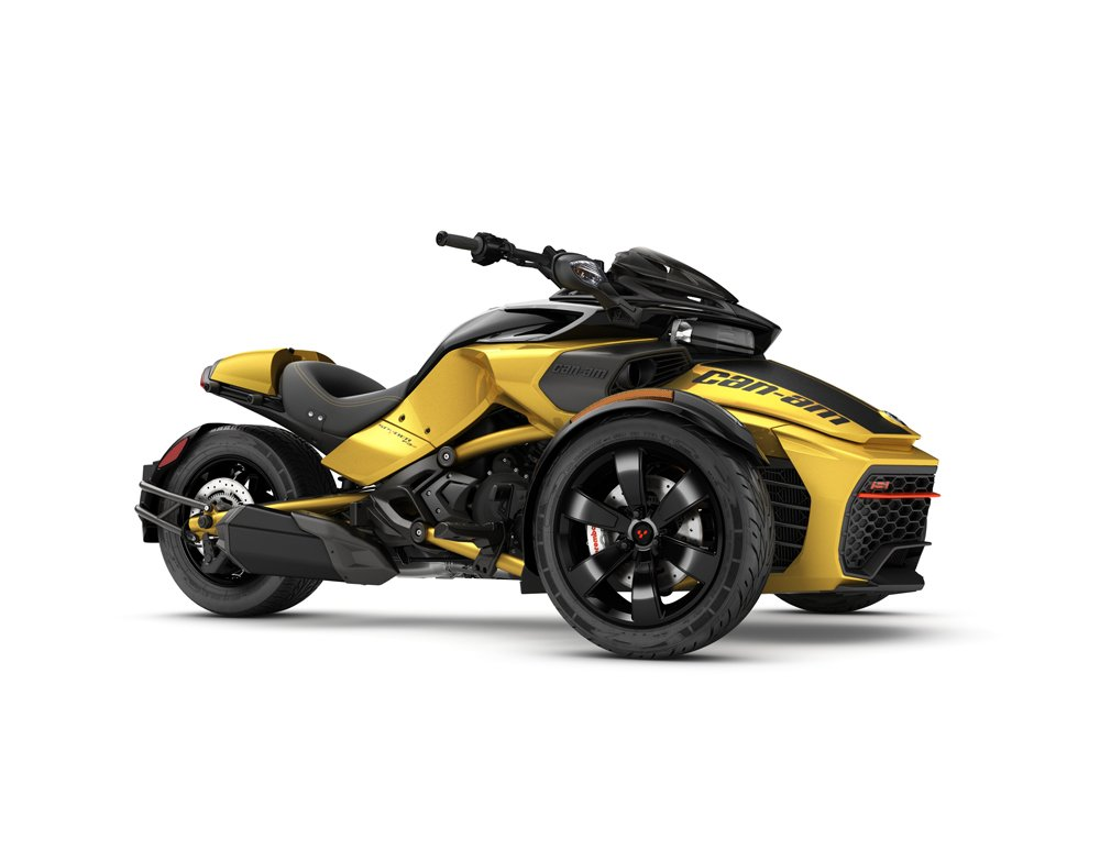 2017 Spyder F3-S Daytona Circuit Yellow Metallic_3-4 front