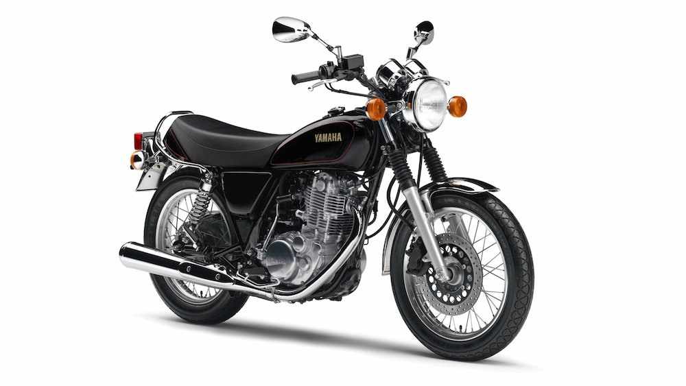 And here's a stock SR400...