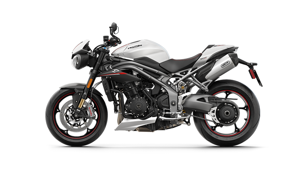 Speed Triple RS - LHS Crystal White